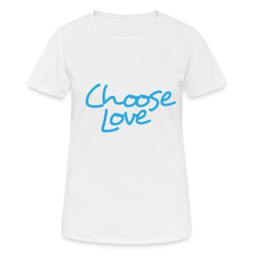 Logo + Choose Love - Women's Breathable T-Shirt