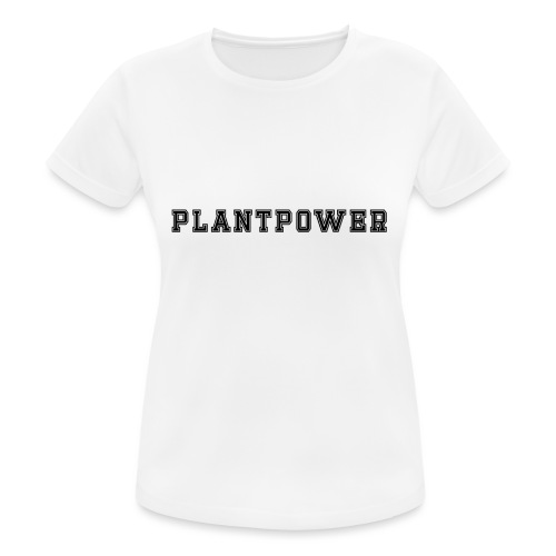 Plant Power Vegan Team Nummer 1 - Frauen T-Shirt atmungsaktiv