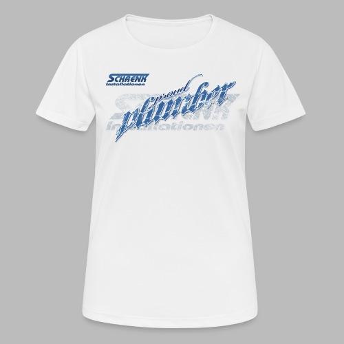 PROUD Plumber PRO / 3fach Druck - Frauen T-Shirt atmungsaktiv