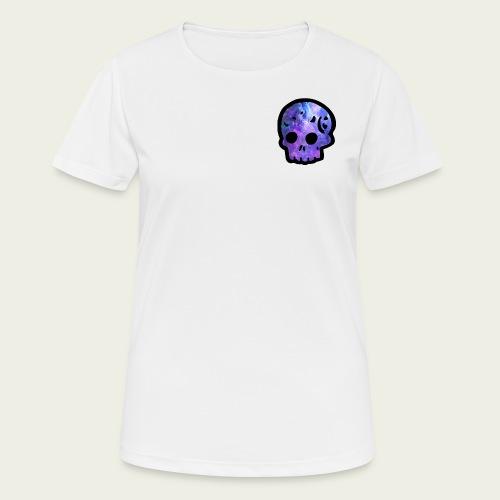 Skull craneo nebulosa - Camiseta mujer transpirable