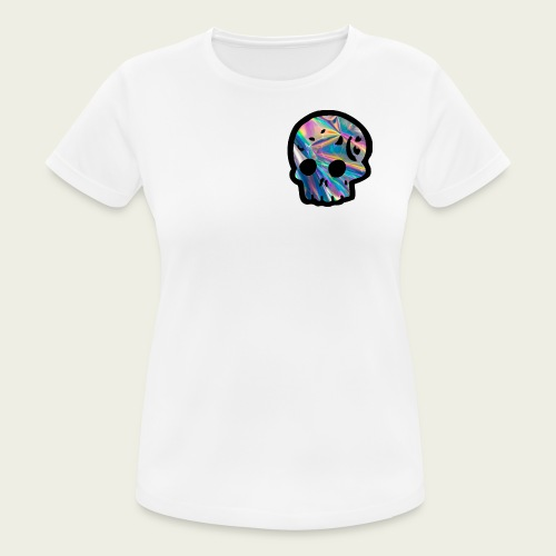 Skull craneo reflejante - Camiseta mujer transpirable