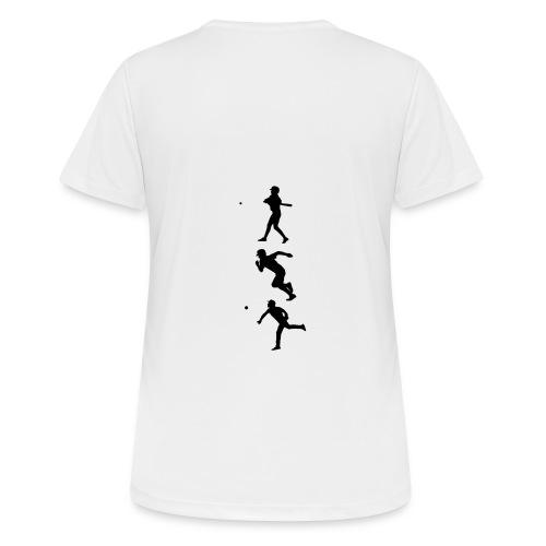 Hit Run Throw + Logo Arm - Frauen T-Shirt atmungsaktiv