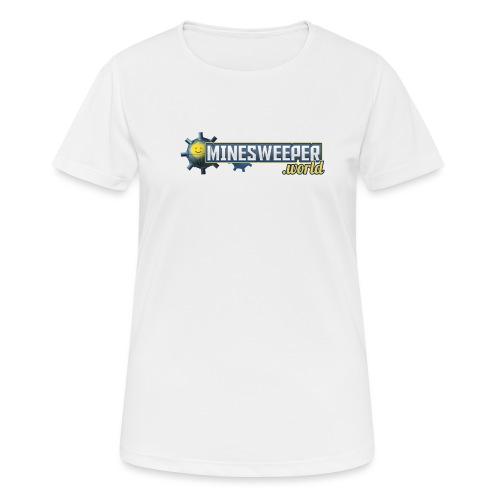 Minesweeper.World Logo mit Icon // 2 Druckbereiche - Frauen T-Shirt atmungsaktiv