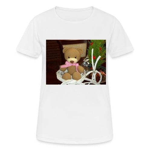 Oso amigurumi de crochet hecho a mano,suave - Camiseta mujer transpirable