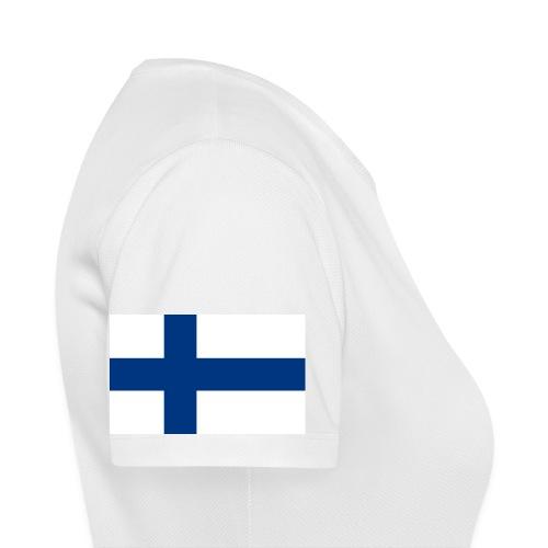 800pxflag of finlandsvg - naisten tekninen t-paita