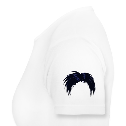 musta, hiukset - naisten tekninen t-paita