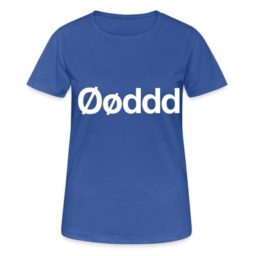 Øøddd (hvid skrift) - Dame T-shirt svedtransporterende