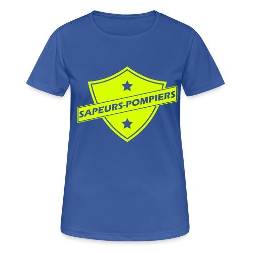 blason sapeurs-pompiers - T-shirt respirant Femme