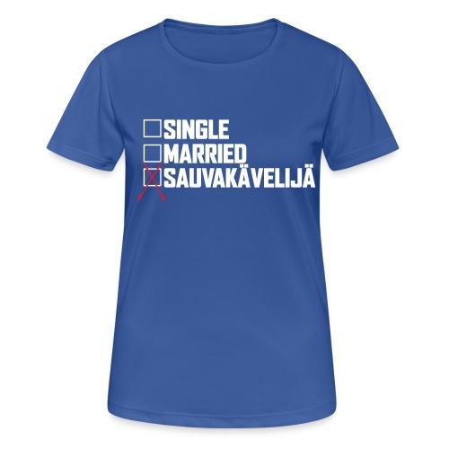 Sauvakävelijä - naisten tekninen t-paita