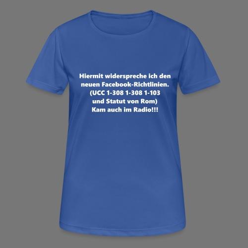 Facebook-AGB - Männer - Frauen T-Shirt atmungsaktiv