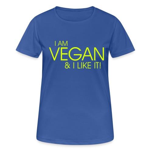 I am vegan and I like it - Frauen T-Shirt atmungsaktiv
