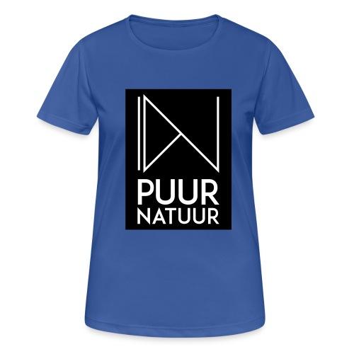 Logo puur natuur negatief - vrouwen T-shirt ademend