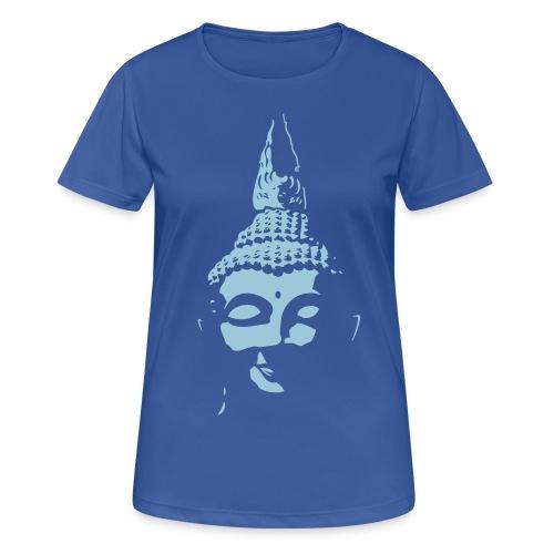 Boeddha hoofd diapositief - Vrouwen T-shirt ademend actief