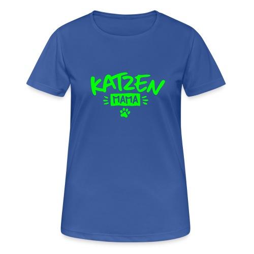 Vorschau: Katzen Mama - Frauen T-Shirt atmungsaktiv