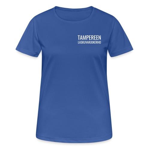 Teksti TAMLK logo CMYK - naisten tekninen t-paita