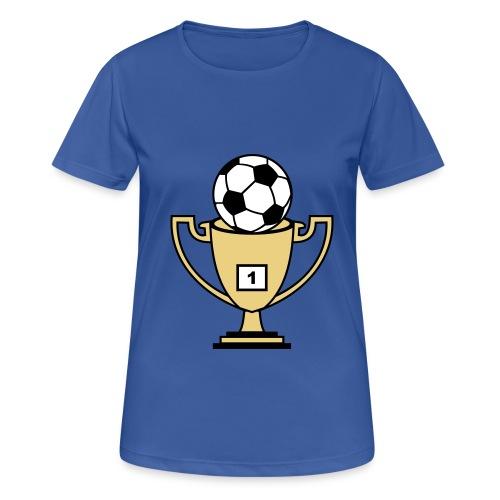 Pokal mit Fussball - Frauen T-Shirt atmungsaktiv