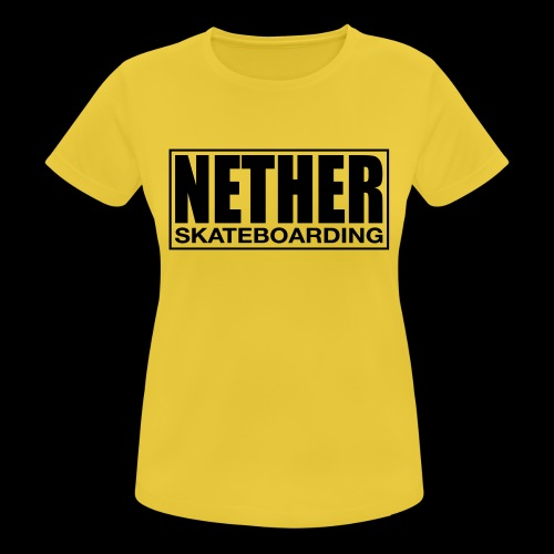 Nether Skateboarding T-shirt White - Maglietta da donna traspirante