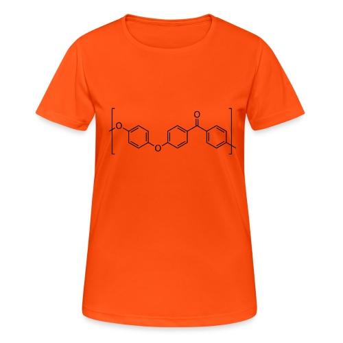 Polyetheretherketone (PEEK) molecule. - Women's Breathable T-Shirt