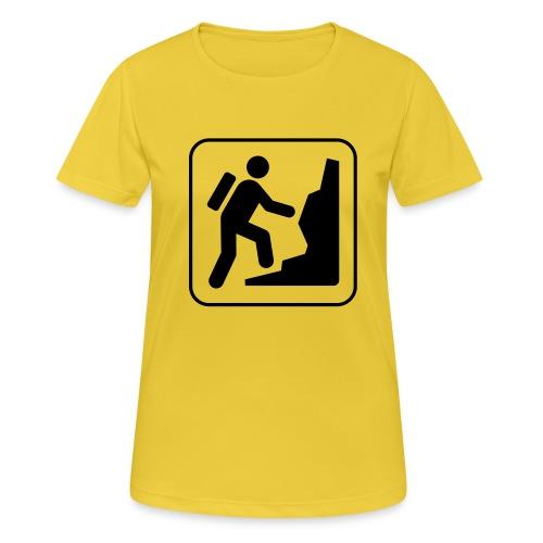 Bergwandern_logo - Frauen T-Shirt atmungsaktiv