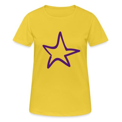 Star Outline Pixellamb - Frauen T-Shirt atmungsaktiv