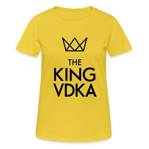 The King VDKA Logo schwarz RGB - Frauen T-Shirt atmungsaktiv