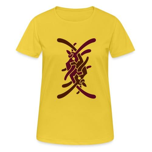 Stort logo på ryg - Dame T-shirt svedtransporterende