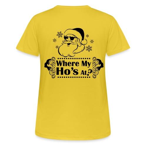 Where_My_Hos_at - naisten tekninen t-paita