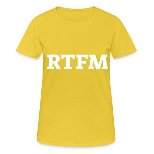 RTFM - Dame T-shirt svedtransporterende