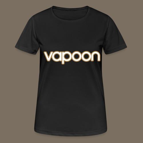 Vapoon Logo simpel 2 Farb - Frauen T-Shirt atmungsaktiv