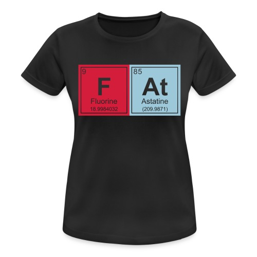 Geeky Fat Periodic Elements - Women's Breathable T-Shirt