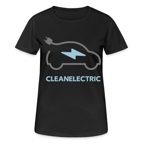CLEANELECTRIC Logo - Frauen T-Shirt atmungsaktiv