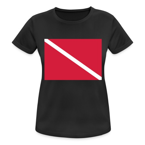 Diver Flag - Women's Breathable T-Shirt