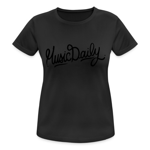MusicDaily Logo - vrouwen T-shirt ademend