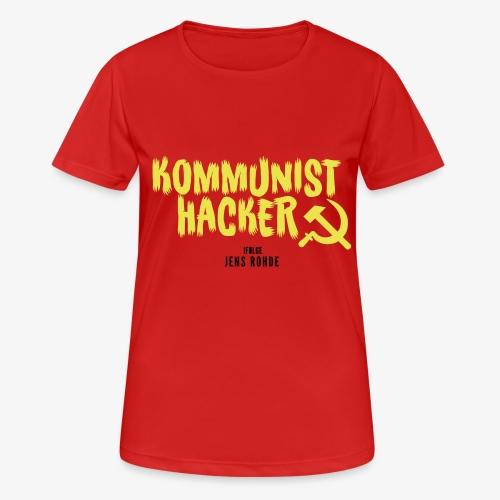 Kommunist Hacker ifølge Jens - Dame T-shirt svedtransporterende