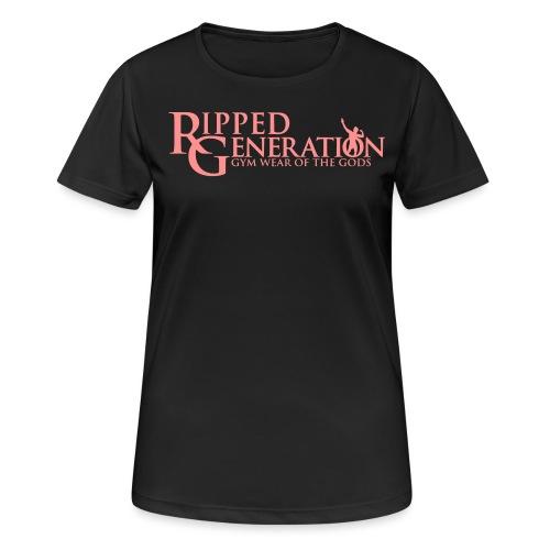 Ripped Generation Tekstilogo - naisten tekninen t-paita
