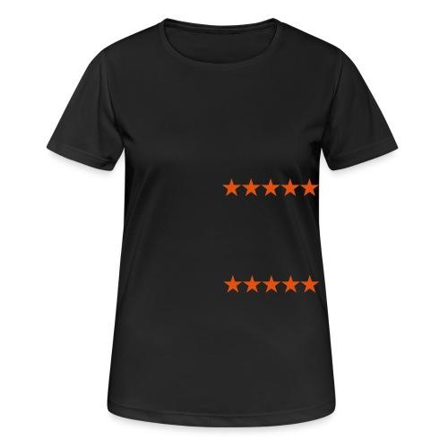 ratingstars - naisten tekninen t-paita