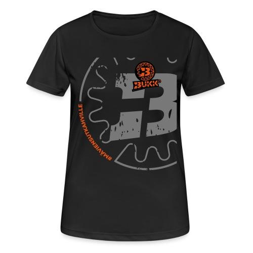 BUKK SPSHIRT maviensutkahville orange - naisten tekninen t-paita
