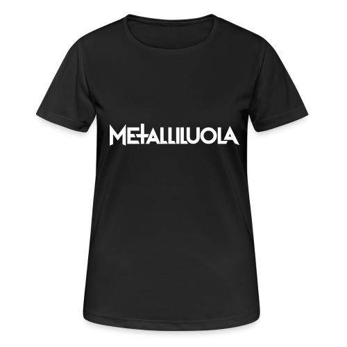 Metalliluola logo - naisten tekninen t-paita