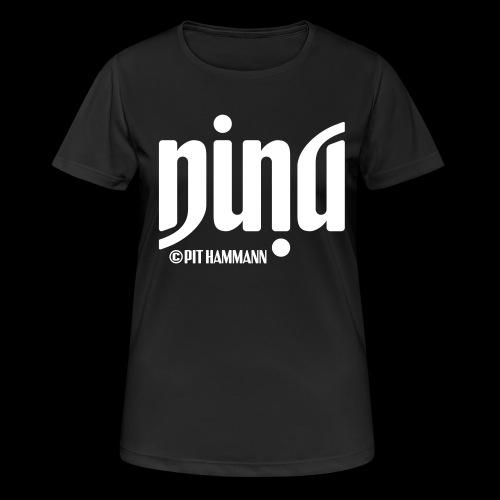 Ambigramm Nina 01 Pit Hammann - Frauen T-Shirt atmungsaktiv