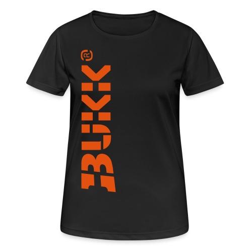 BUKK LOGO orange - naisten tekninen t-paita
