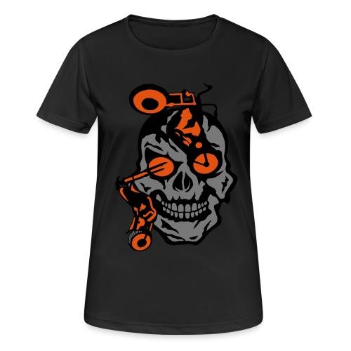 tete mort moto motrocycle oeil skull - T-shirt respirant Femme