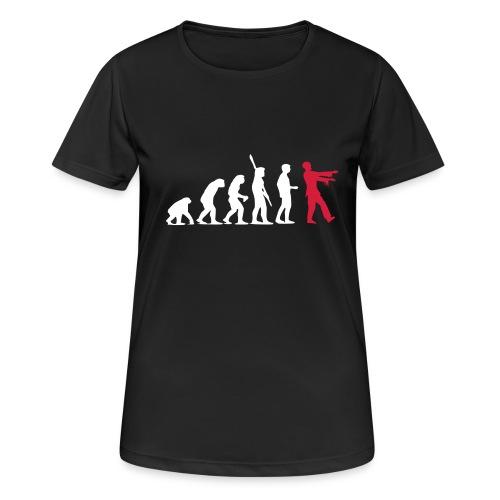 Zombie Evolution (zweifarbig) - Frauen T-Shirt atmungsaktiv