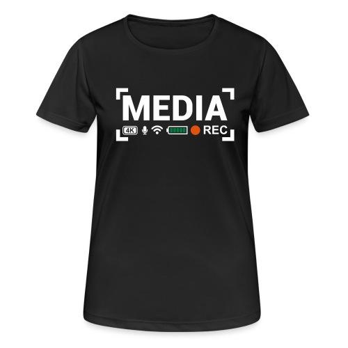 MEDIA Crew - Maglietta da donna traspirante