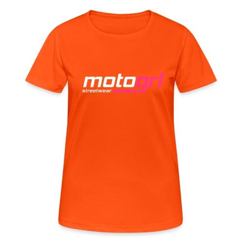MotoGrl Streetwear - naisten tekninen t-paita