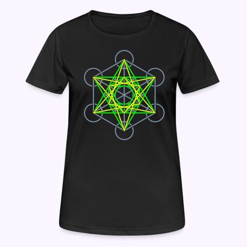Metatron Cube 3 Colors - Women's Breathable T-Shirt