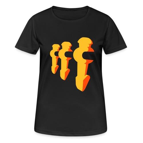 Kickerfiguren - Kickershirt - Frauen T-Shirt atmungsaktiv