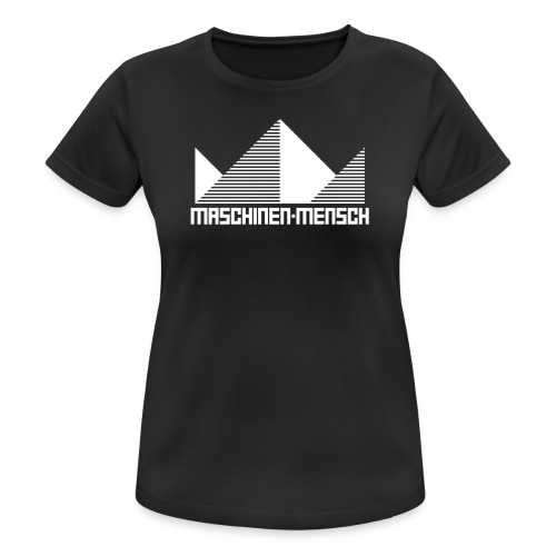 Maschinen-Mensch Logo black - Frauen T-Shirt atmungsaktiv