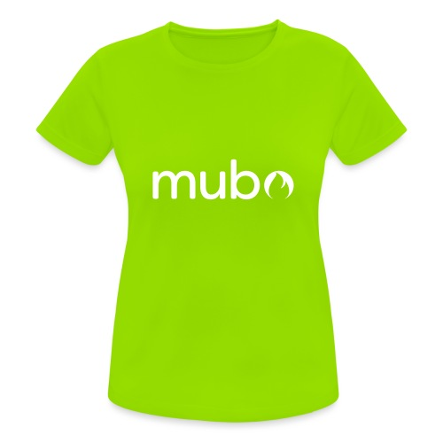 mubo logo Word White - Women's Breathable T-Shirt