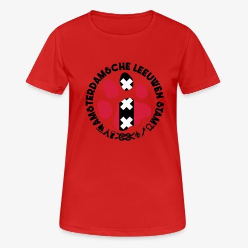 ALS witte cirkel lichtshi - Vrouwen T-shirt ademend actief