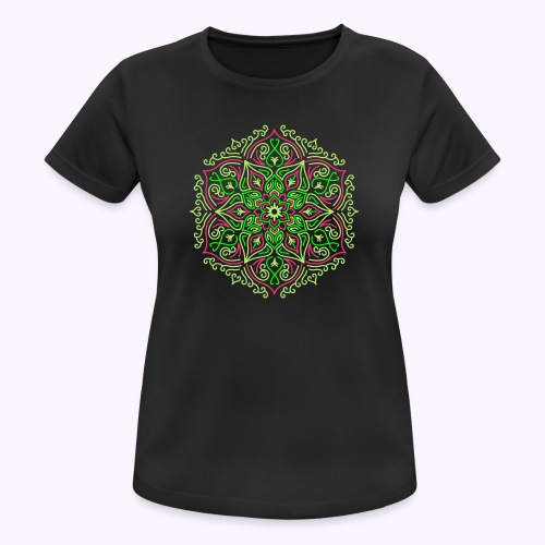 Feuer Lotus Mandala - Frauen T-Shirt atmungsaktiv